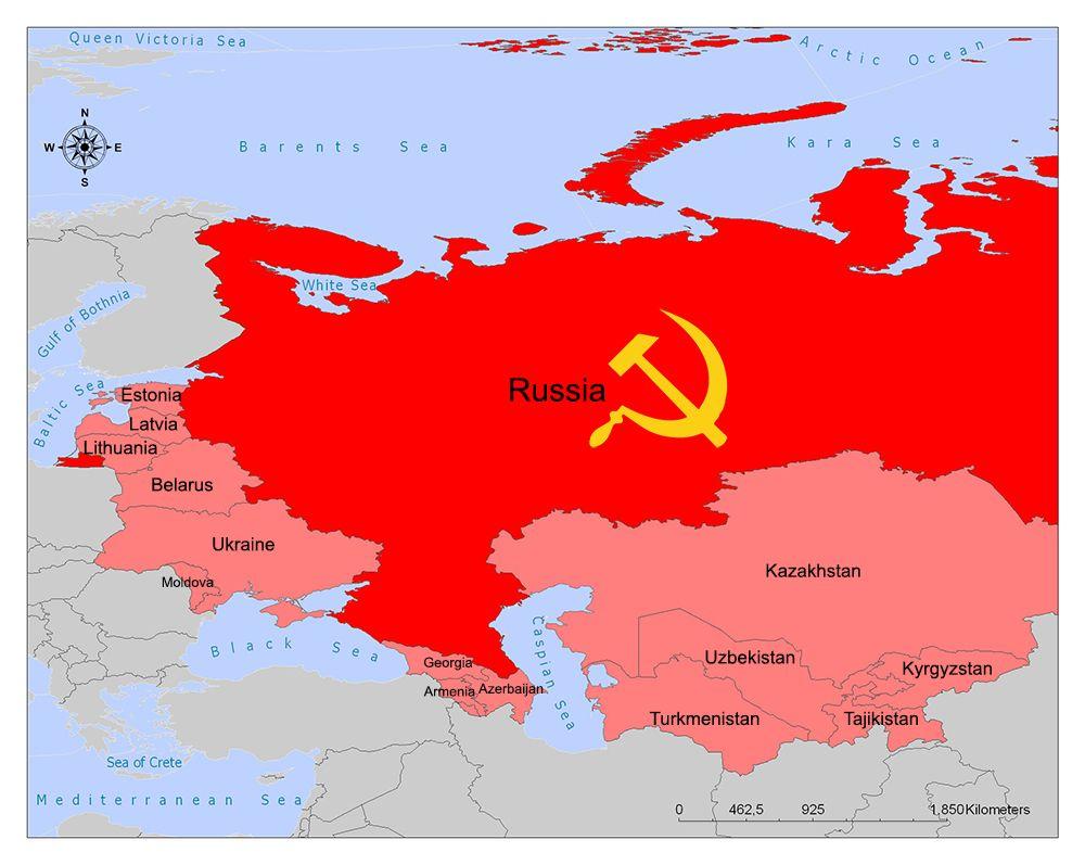Soviet Union Map Union Of Soviet Socialist Republics Soviet Union Soviet