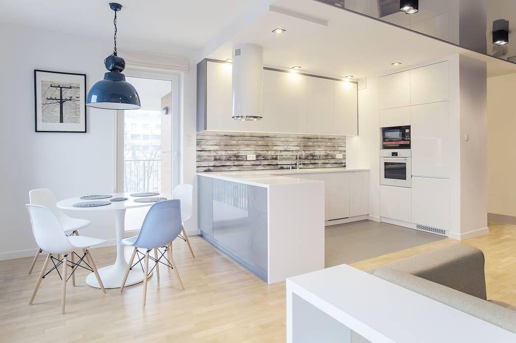 Cozinhas escandinavas por DK architektura wnętrz