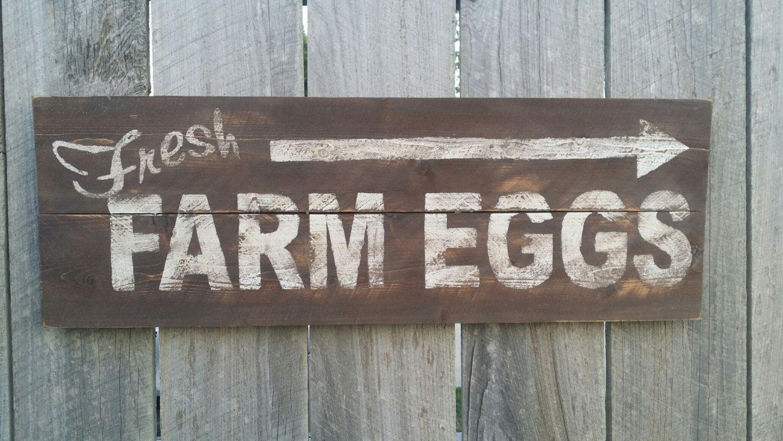 Fresh farm eggs sign rustic sign rustic wall art hand