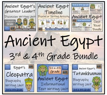 Photo of Ancient Egypt 3rd Grade & 4th Grade Display, Close Read & Writing Bundle