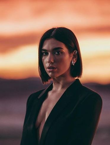 Dua Lipa Is The New Face Of Ysl Fragrance Short Hair Styles Lipa Hair Styles
