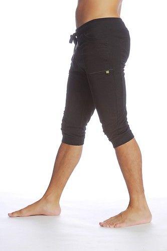Cuffed Short Pants For Men Black Perfect 4 Yoga Tennis