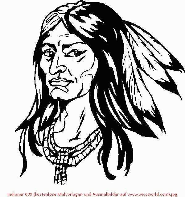 indianer 039 (kostenlose malvorlagen und ausmalbilder auf