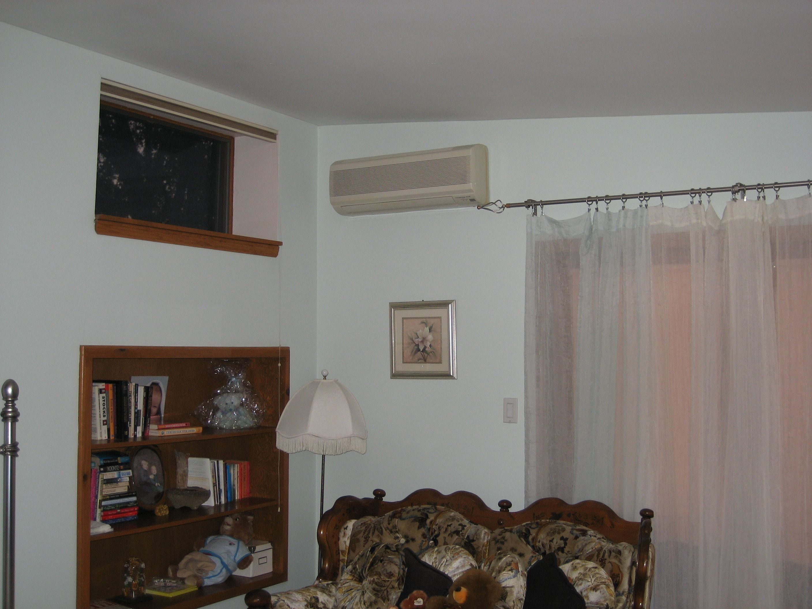 Mitsubishi wall mount in bedroom Ductless heating, Ductless