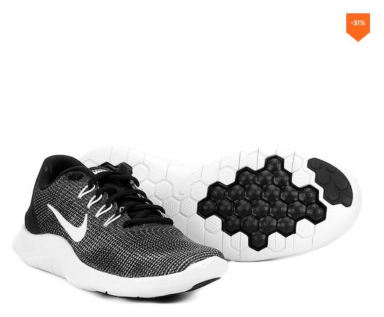 Netshoes Tênis Nike Wmns Flex 2018 Rn Feminino Preto E