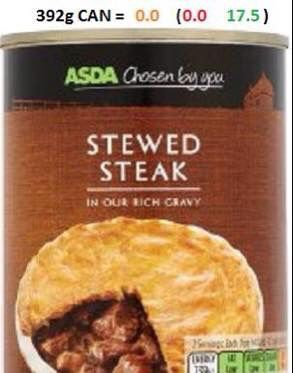 Asda Stewed Steak Asda Slimming World Slimming World Syns Food