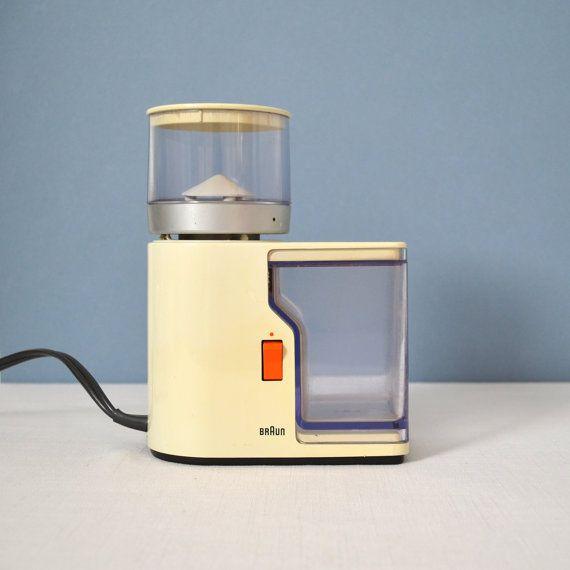 Vintage Braun Electric Coffee Grinder KMM1 by Reinhold