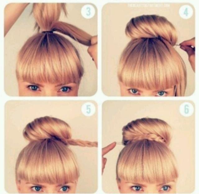 Pin By Hannah Heart On Alyssa S Hair Ideas Bun Hairstyles Hair Styles Hair Puff