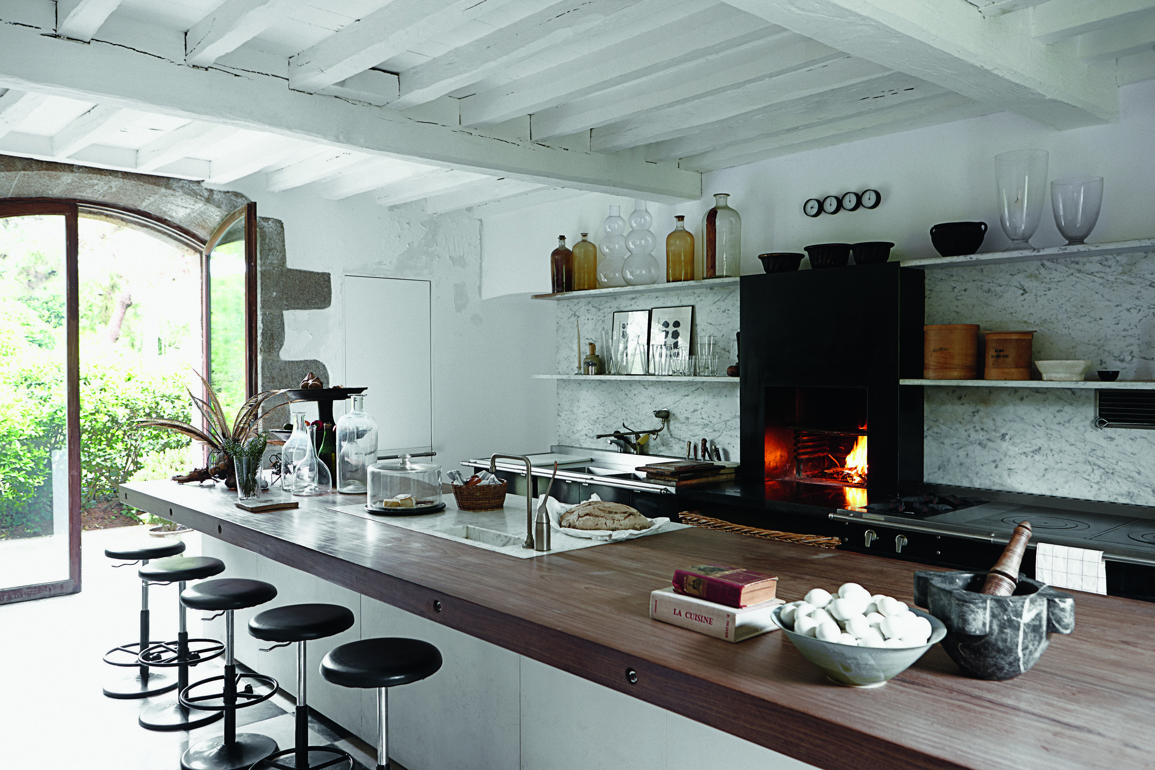 Elegant Interiors By Axel Vervoordt - Architectural Digest Rustic Kitchen