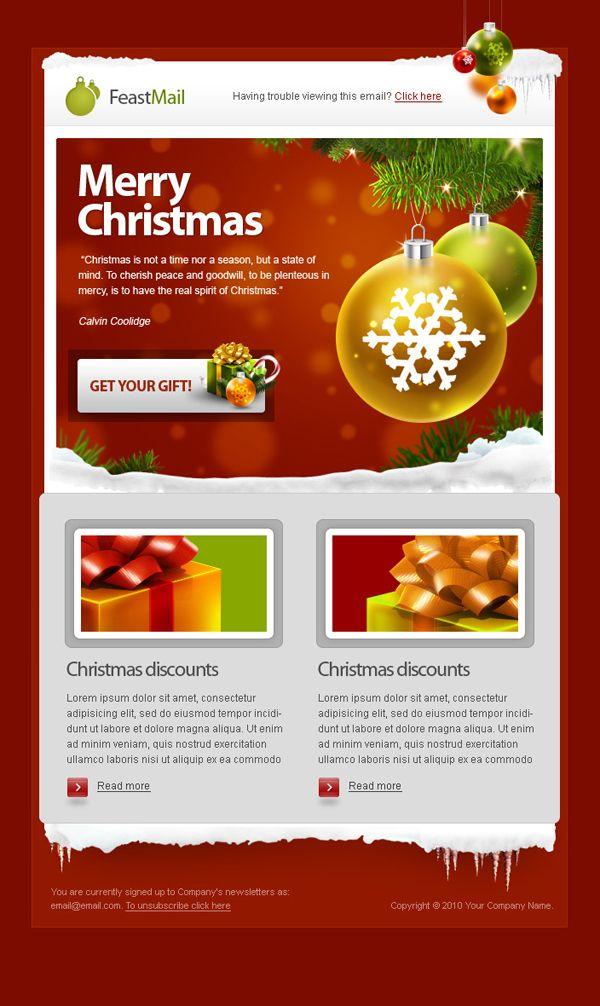 newsletter noel 10 Templates de Newsletter pour Noël   Pinterest   Template newsletter noel
