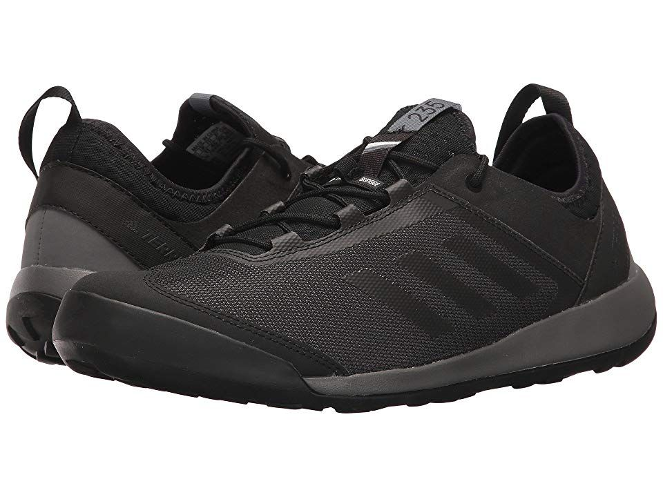 8b85df0392756 adidas Outdoor Terrex Swift Solo (Utility Black Black Grey Four) Men s Shoes.  Keep your movements fluid on any terrain with the Terrex Swift Solo shoe by  ...
