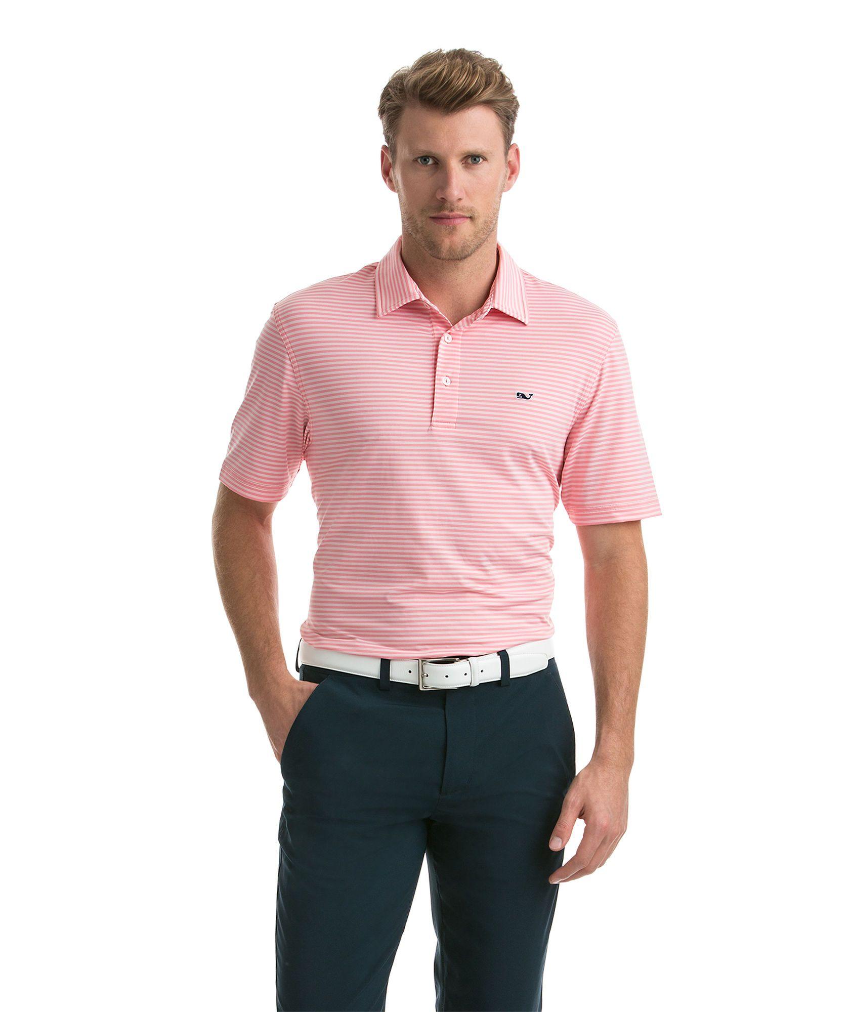 6b38f464 Kennedy Stripe Polo, $85 (color Flamingo) | Golf Shirts | Polo, Mens ...