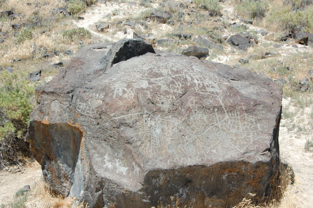 Melba Idaho Map.Map Rock Near Melba Idaho Is Reputed To Be One Of The Oldest Rock