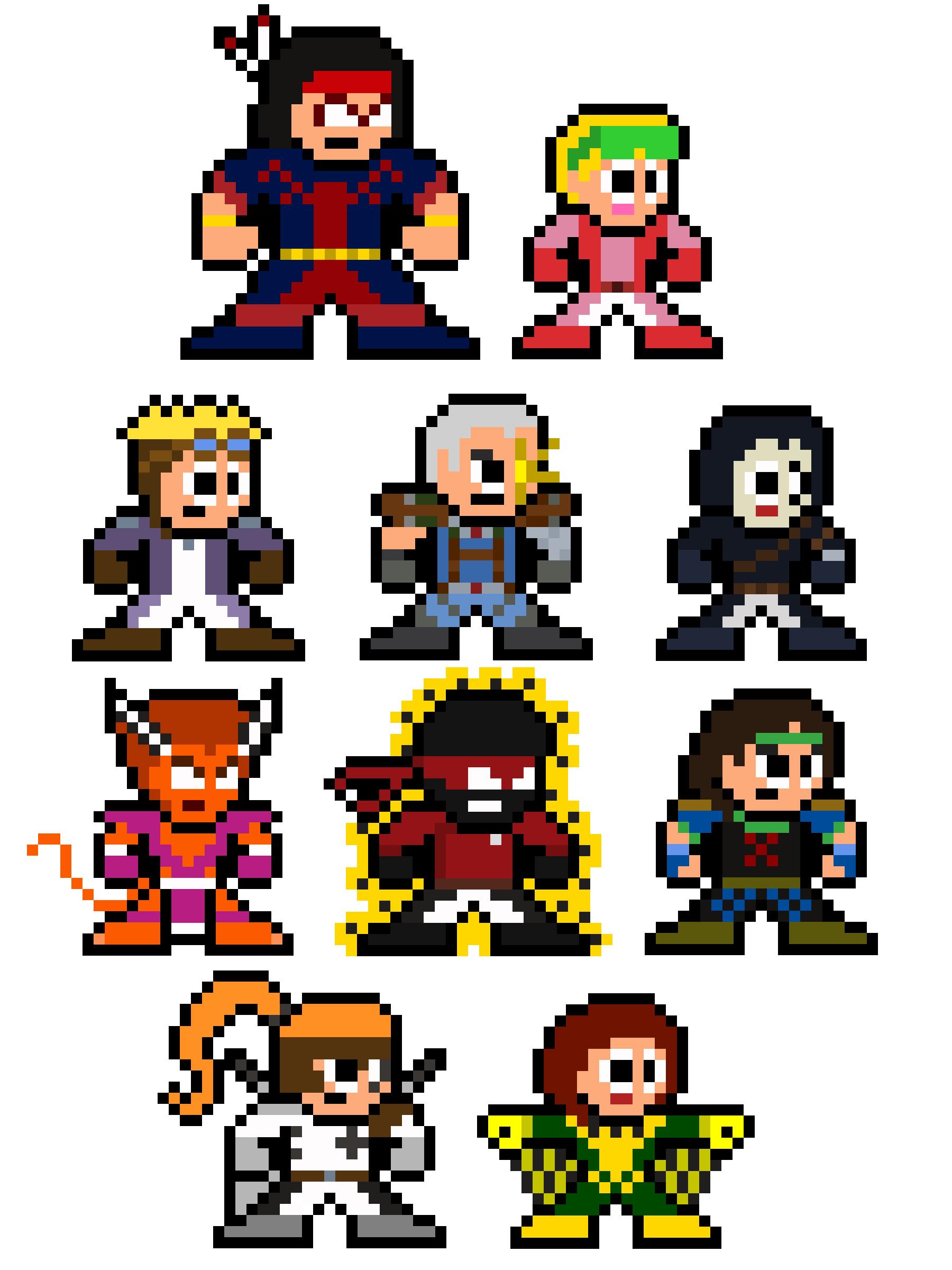 8-Bit Classic X-Force Marvel Pixel Sprites | Pixelated Pop Culture ...