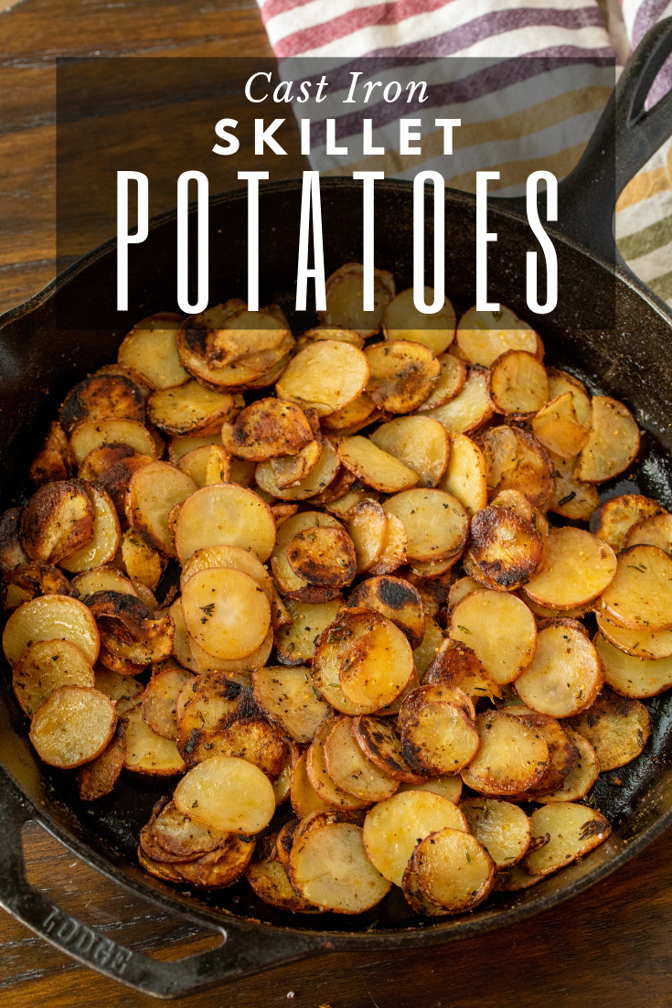These skillet potatoes are the quintessential comfort food Theyre perfectly fried and bursting with flavor making them the ultimate side for all of your breakfast or dinn...