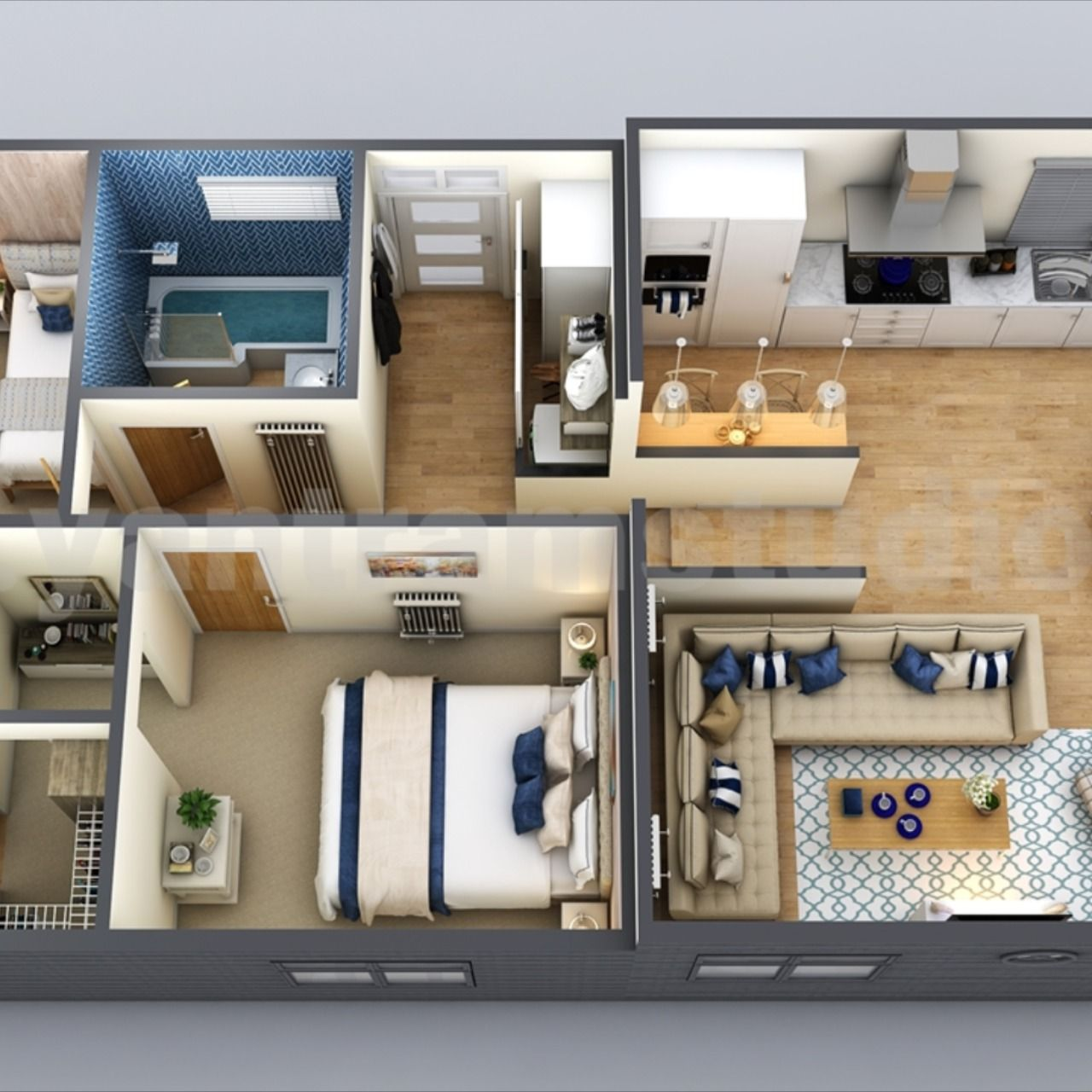 Interactive Small Home Design 3d Floor Plan By Yantarm Architectural Rendering Company Belize In 2020 Small House Design House Design Floor Plan Design