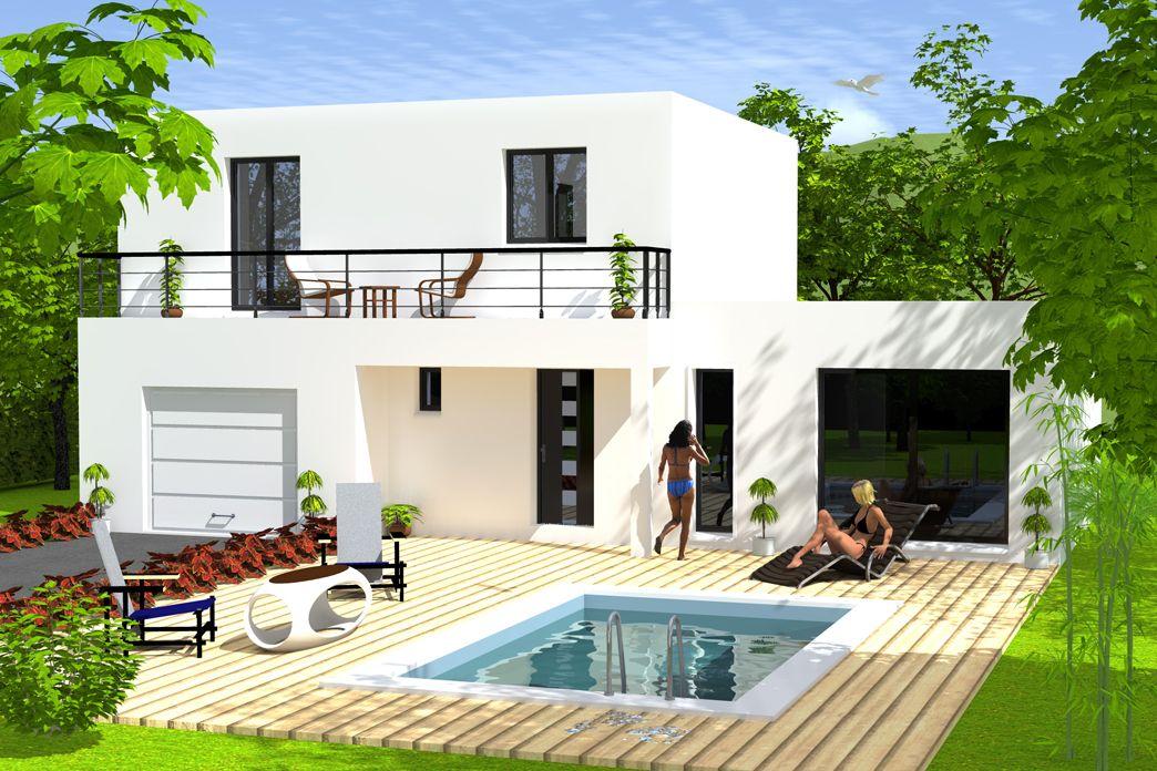 maison permis de construire modern house in the woods en. Black Bedroom Furniture Sets. Home Design Ideas