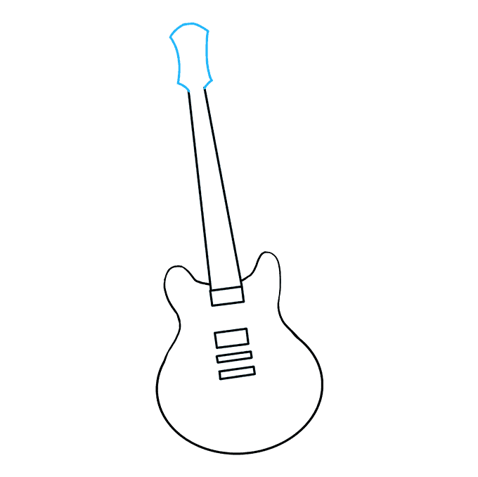 How To Draw A Guitar Really Easy Drawing Tutorial With Images