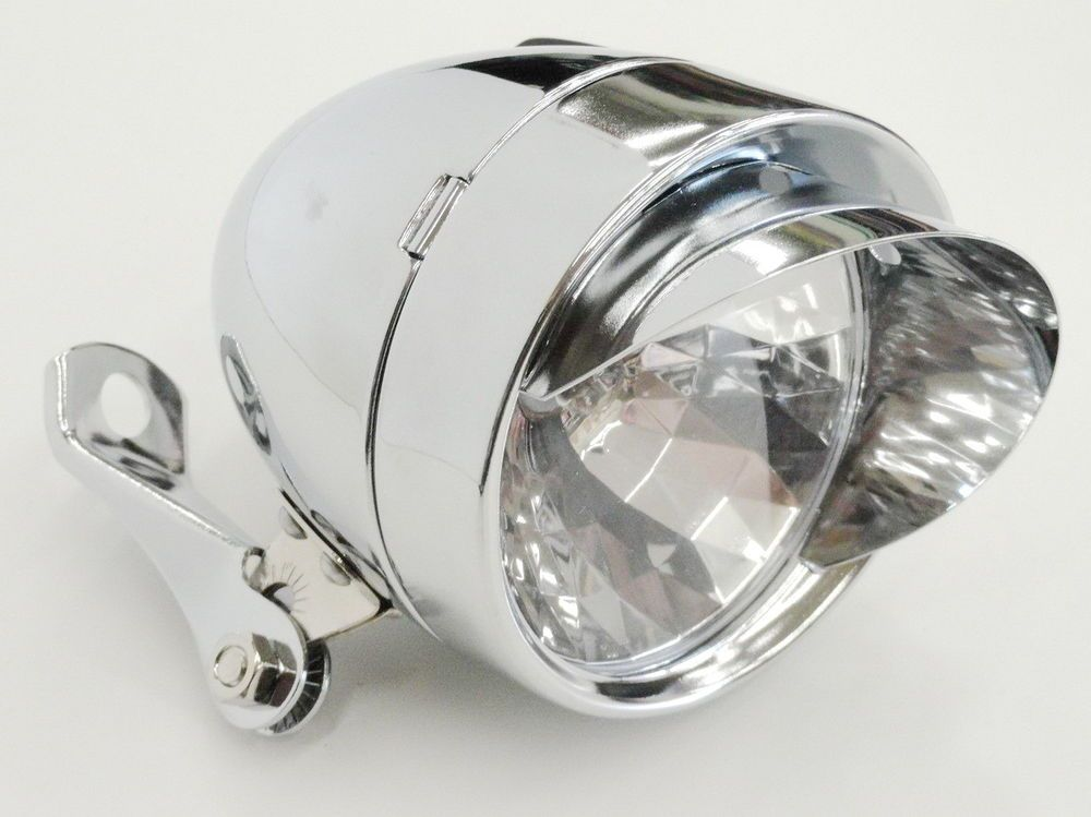 BICYCLE cruiser BULLET LIGHT CHROME with 3 Led Bulb low rider new