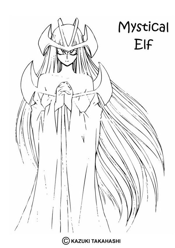 Mystical Elf coloring page from Yu-Gi-Oh coloring pages. More manga ...