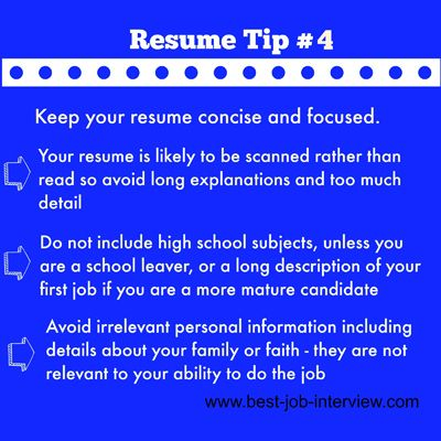 Resume Building Tips #4 Job Search, Job Interviews, Careers - resume building tips