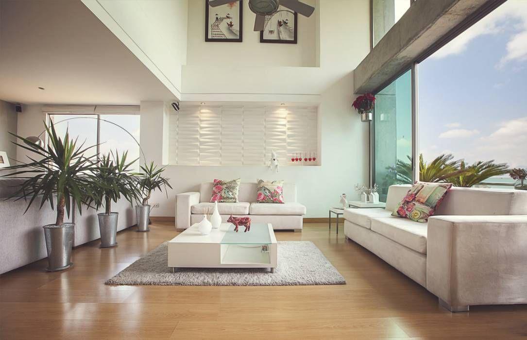 Moderne Wohnzimmer Bilder von Cristina Cortés Diseño y Decoración - moderne wohnzimmer sofa