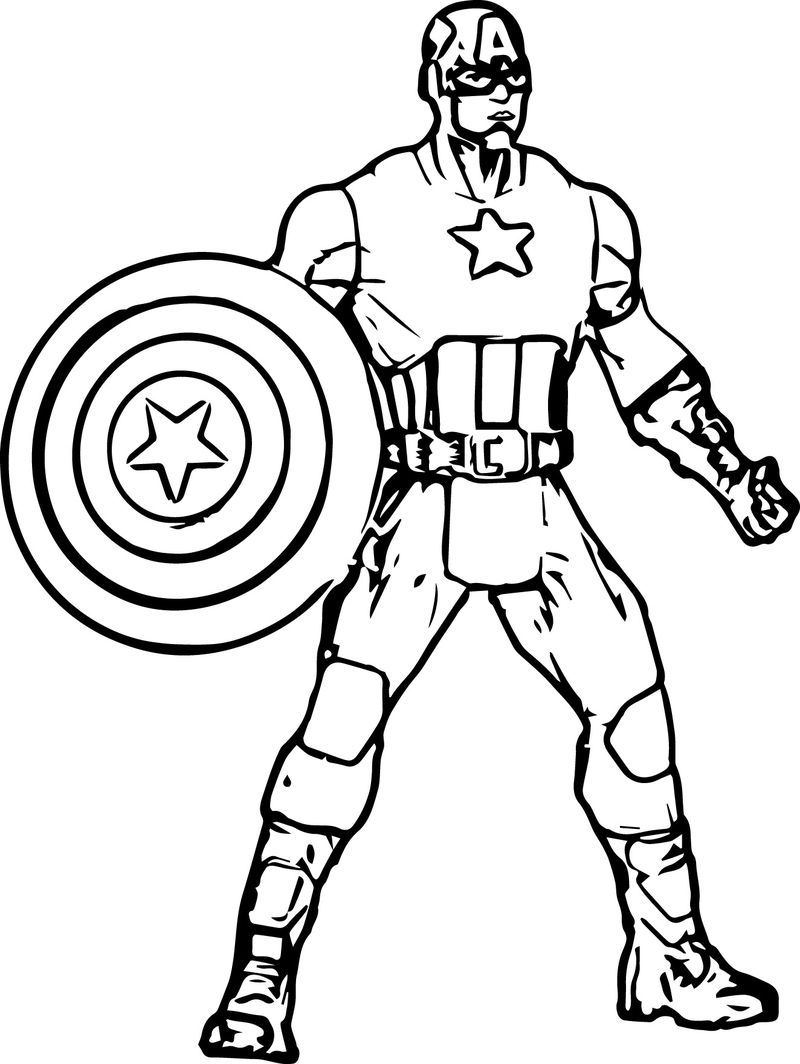Captain America Avengers Coloring Page In 2020 Avengers Coloring Pages Avengers Coloring Captain America Coloring Pages