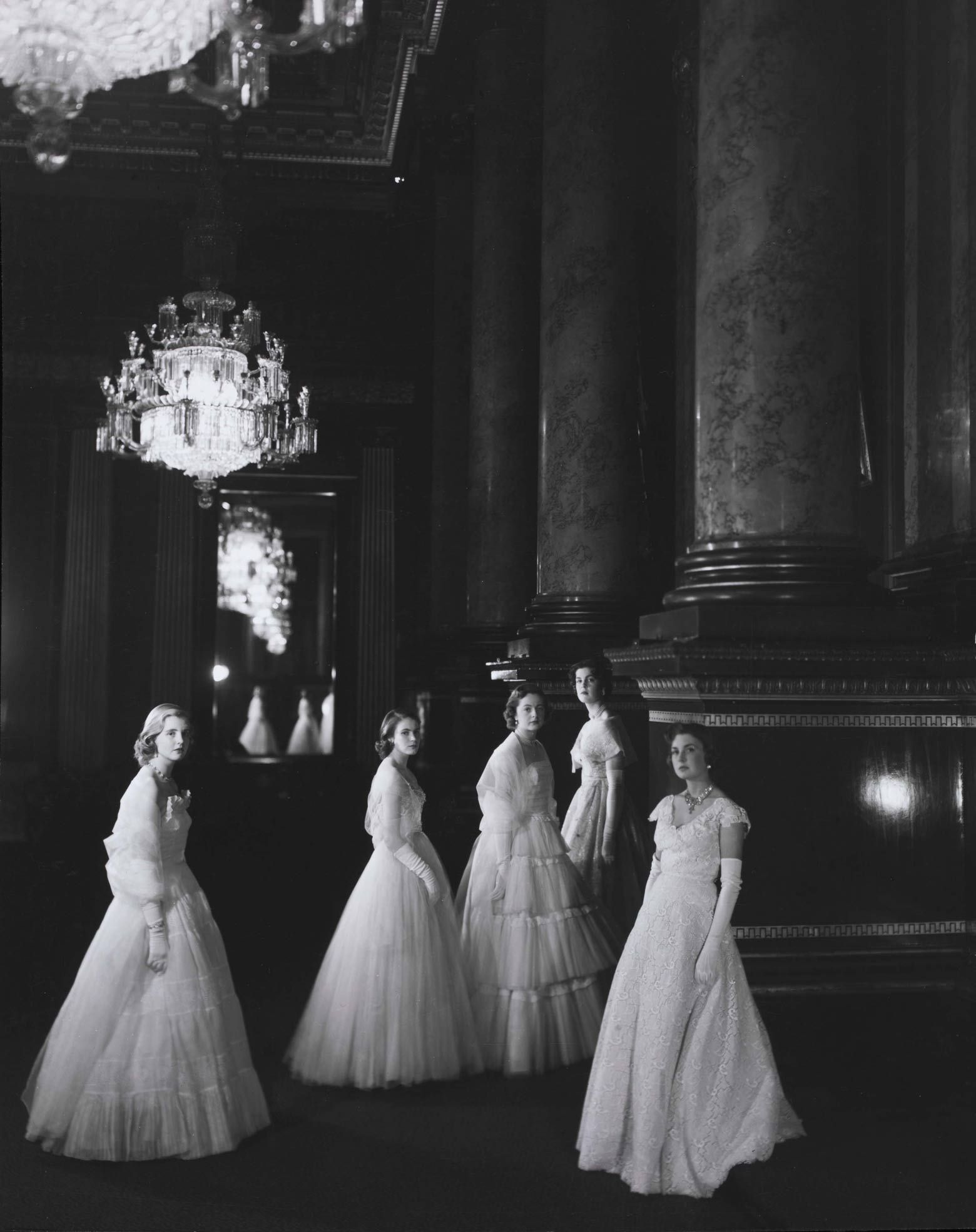 Maids Of Honour Shot By Cecil Beaton At The Coronation Of Queen