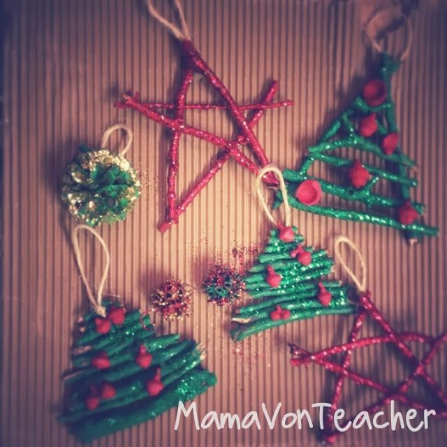 Tutus and Tea Parties: Sticks & Stuff Christmas Ornaments   Guest Post by MamaVonTeacher...love these!