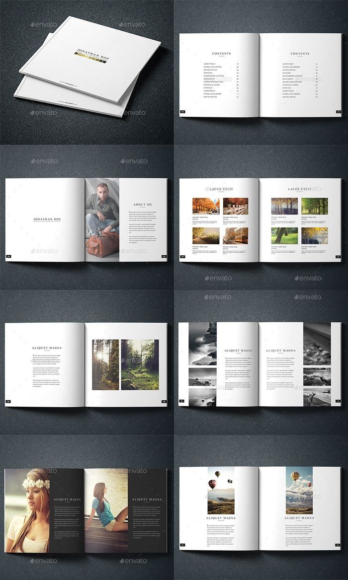 Best Photography Portfolio Brochure Design Template - Portfolio brochure template