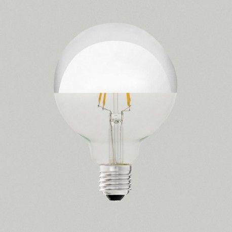 avec son effet miroir cette ampoule vintage clairera avec brio vos pi ces de vie une ampoule. Black Bedroom Furniture Sets. Home Design Ideas