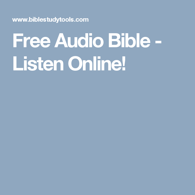 Free Audio Bible