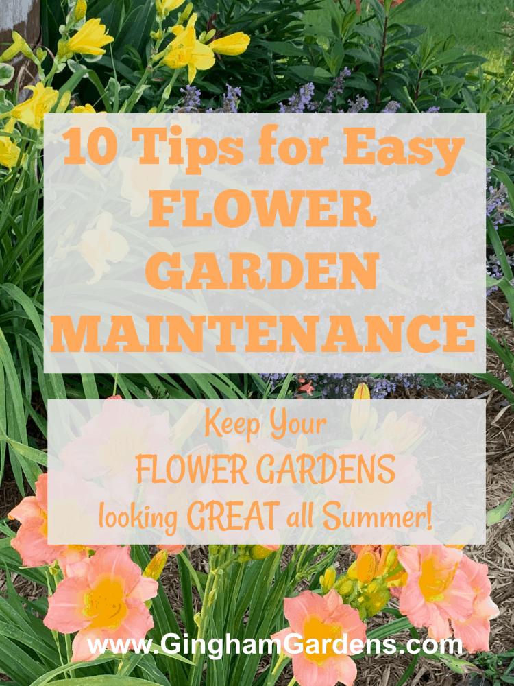 Flower Garden Maintenance Tips Garden Maintenance Vegetable