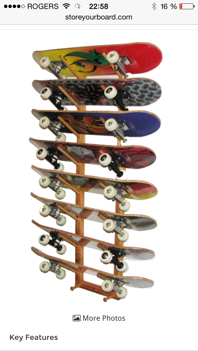 0c1610ff Skateboard Storage, Skateboard Furniture, Wall Racks, Wall Storage, Diy  Storage, Storage