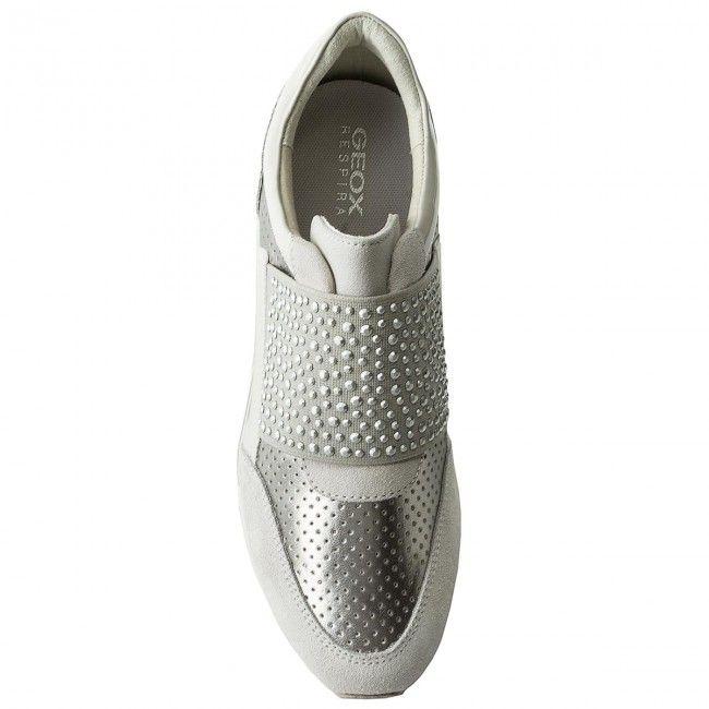 Sneakers GEOX - D Shahira A D82N1A 022NF C0626 Off White/Silver KBD7bd
