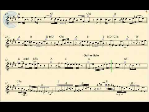 Violin Santeria Sublime Sheet Music Chords And Vocals