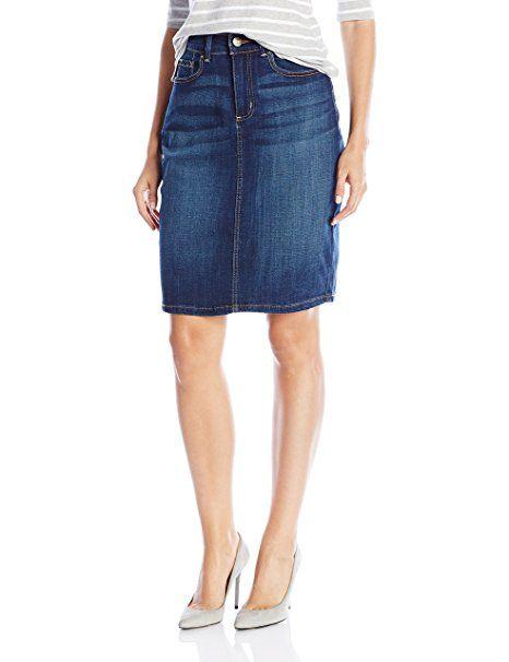 2479044e Lee Women's Modern Series Curvy Fit Stella Skirt Bleach Railroad Stripe:  75% Cotton, 24% Polyester, 1% Spandex; Dallas, Oxford Rinse: 60% Cotton,  22% Rayon, ...