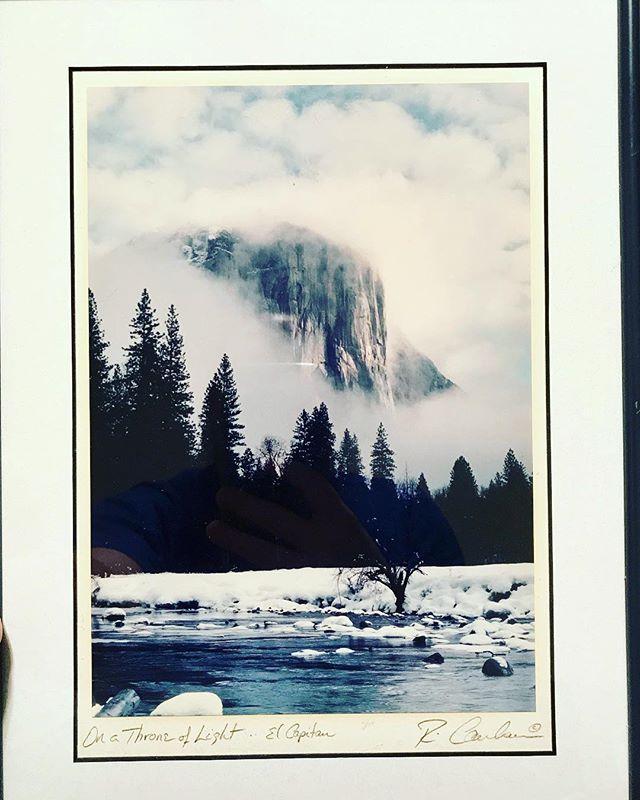 Yosemite Retro Poster El Capitan: Vintage Rick Canham Framed Photo Of Yosemite's El Capitan