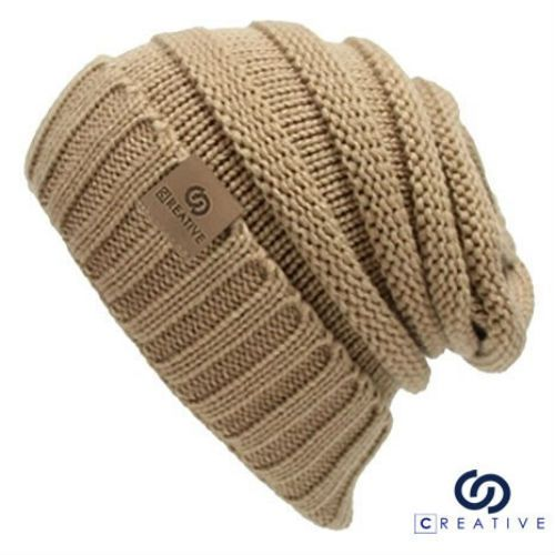 Plain Beanie Knit Hat Mens Women s Winter Warm Cap Slouchy Solid Skull Ski  Hat  ByCreative  Beanie 06a21bfa118c