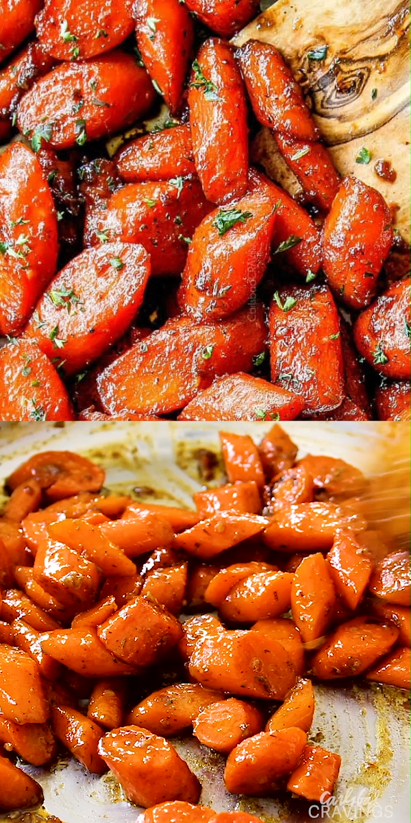 Easy Glazed Carrots good but funky flavors - would