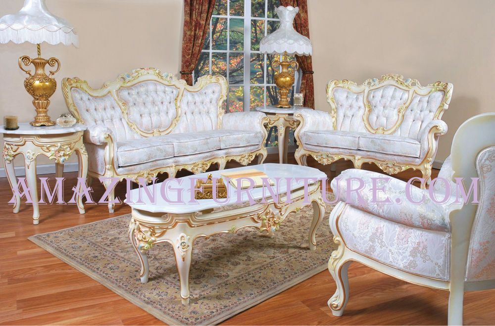 french provincial living rooms blue couch room design furniture style victorian