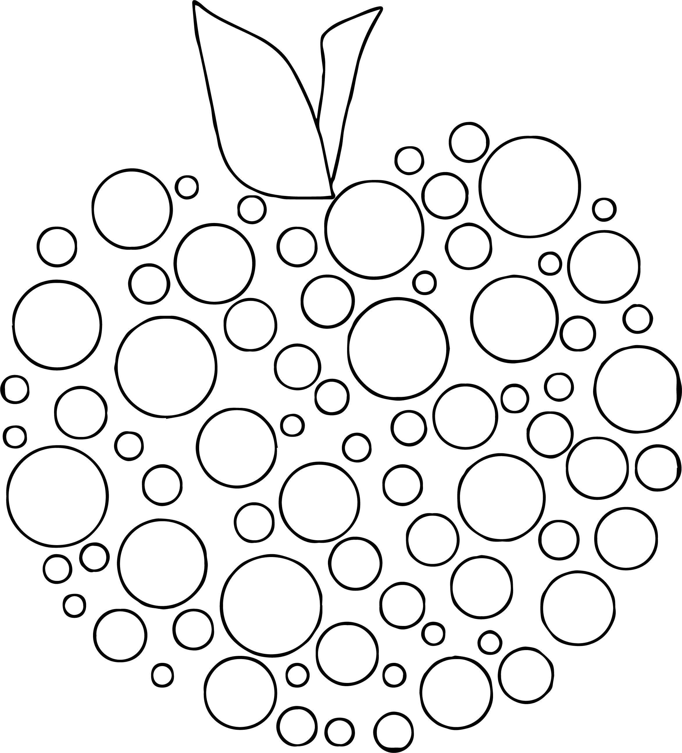Awesome Apple Polka Dot Coloring Page With Images