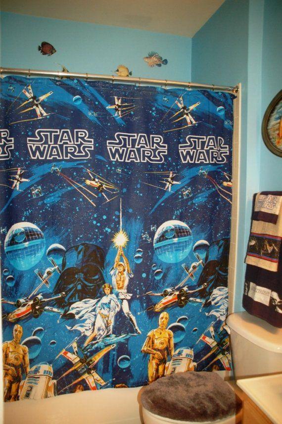 Bathroom Set Made With Vintage Star Wars Bed Sheet Star Wars Bed