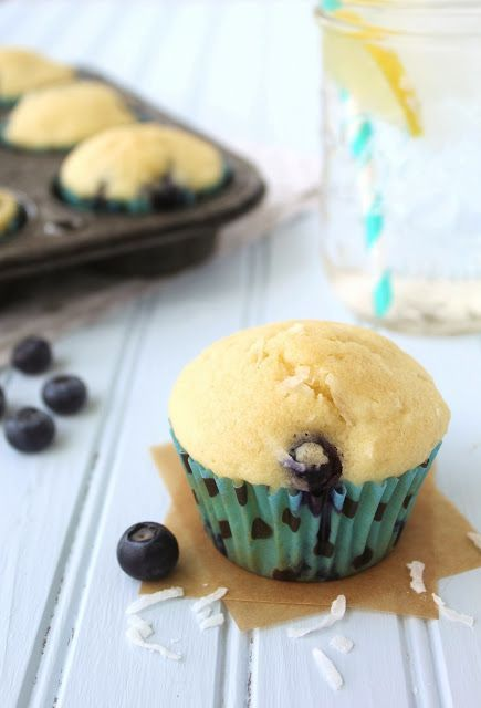 of Flour: Coconut Oil Blueberry Muffins