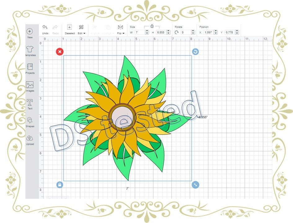 Watercolor Sunflower Template Svg Diy Sunflower Paper Flower