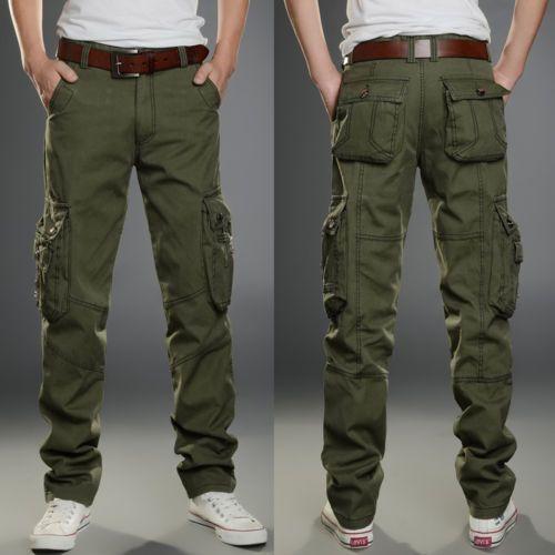 Nuevo Para Hombre Pantalones Tácticos Mono Pantalones Combate Cargo Militar  De Bolsillo Ocio  be66dc1bb579