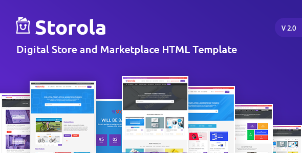Storola Is Beautifully Flat Design Html Template For Ing Digital Products Website This A Perfect Own Goods To