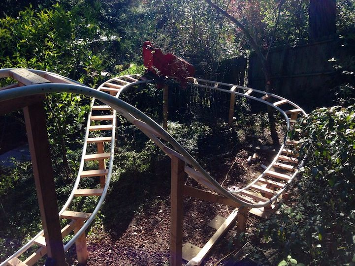 Awesome Dad Builds Backyard Roller Coaster for His Two ...