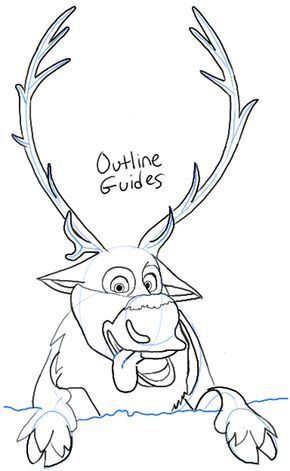 how to draw a reindeer face step by step