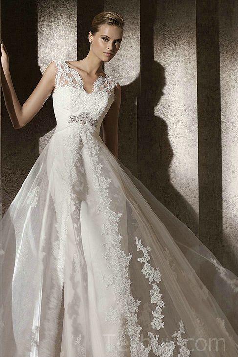 Lace Overlay Wedding Dress